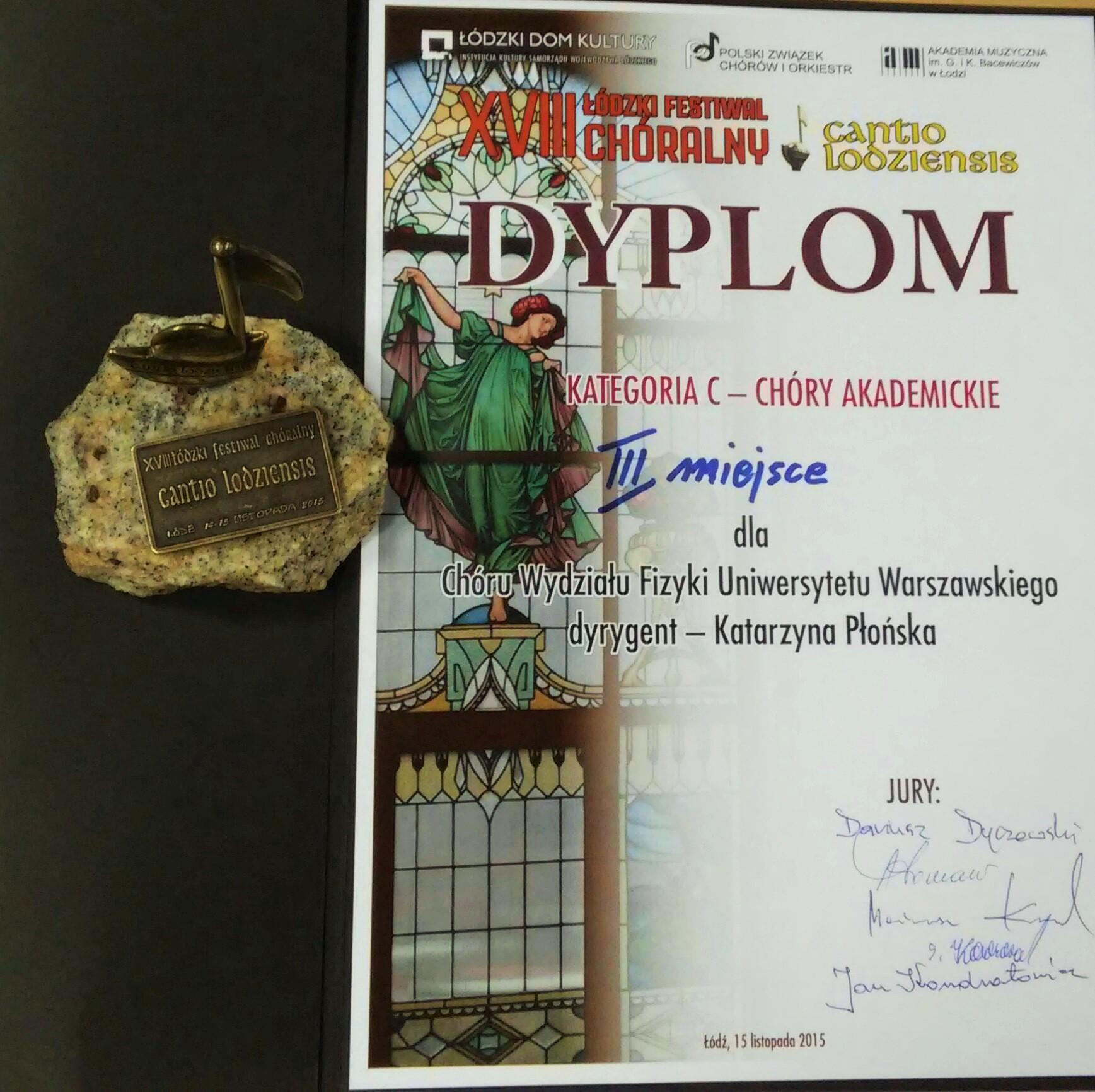 dyplom cantio